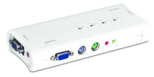 Trendnet TK-408K KVM switch Blue