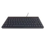 8WARE Compact Mini Ergonomic Keyboard USB & PS2 Black 89 Keys Multimedia Keyboard with 10 hot keys