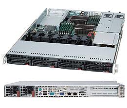 Supermicro CSE-815TQC-R706WB computer case Rack Black 750 W