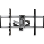 "StarTech.com Full Motion TV Wall Mount - Heavy Duty Articulating TV Wall Mount Bracket for 32"" to 75"" (165lb/75kg) VESA Display - Universal Adjustable Tilt/Swivel Flat Screen Arm - Silver"