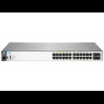 Aruba, a Hewlett Packard Enterprise company Aruba 2530 24G PoE+ Managed L2 Gigabit Ethernet (10/100/1000) Power over Ethernet (PoE) 1U Grey