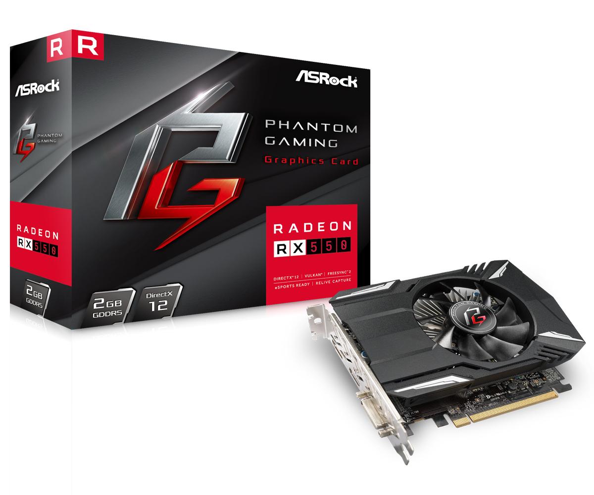Asrock Phantom Gaming RX550 2G AMD Radeon RX 550 2 GB GDDR5