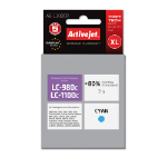 ACTIVEJET Replacement for Brother LC1100C/LC980C Remanufactured Inkjet Cartridge, Cyan, 7ml (AB-1100CR)