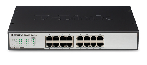 D-Link 16-Port 10/100/1000 Rackmountable Switch Unmanaged