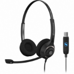 Sennheiser SC 260 USB Binaural Head-band Black headset
