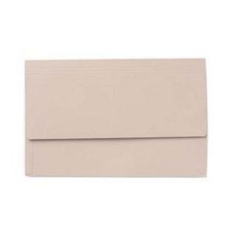 Exacompta Value Document Wallet Foolscap Buff PK50