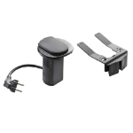 C2G 80855 Schuko Black socket-outlet