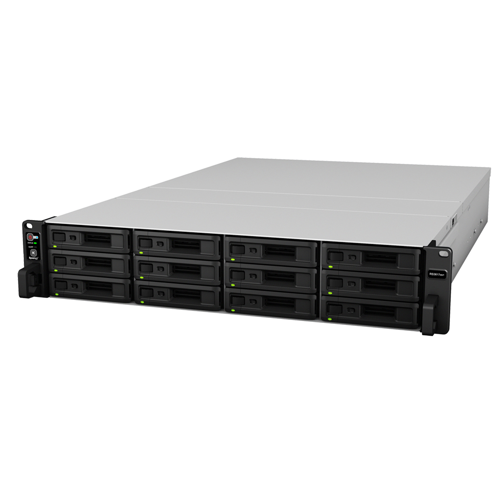 Synology RackStation RS3617xs+ Ethernet LAN Rack (2U) Black,Grey NAS