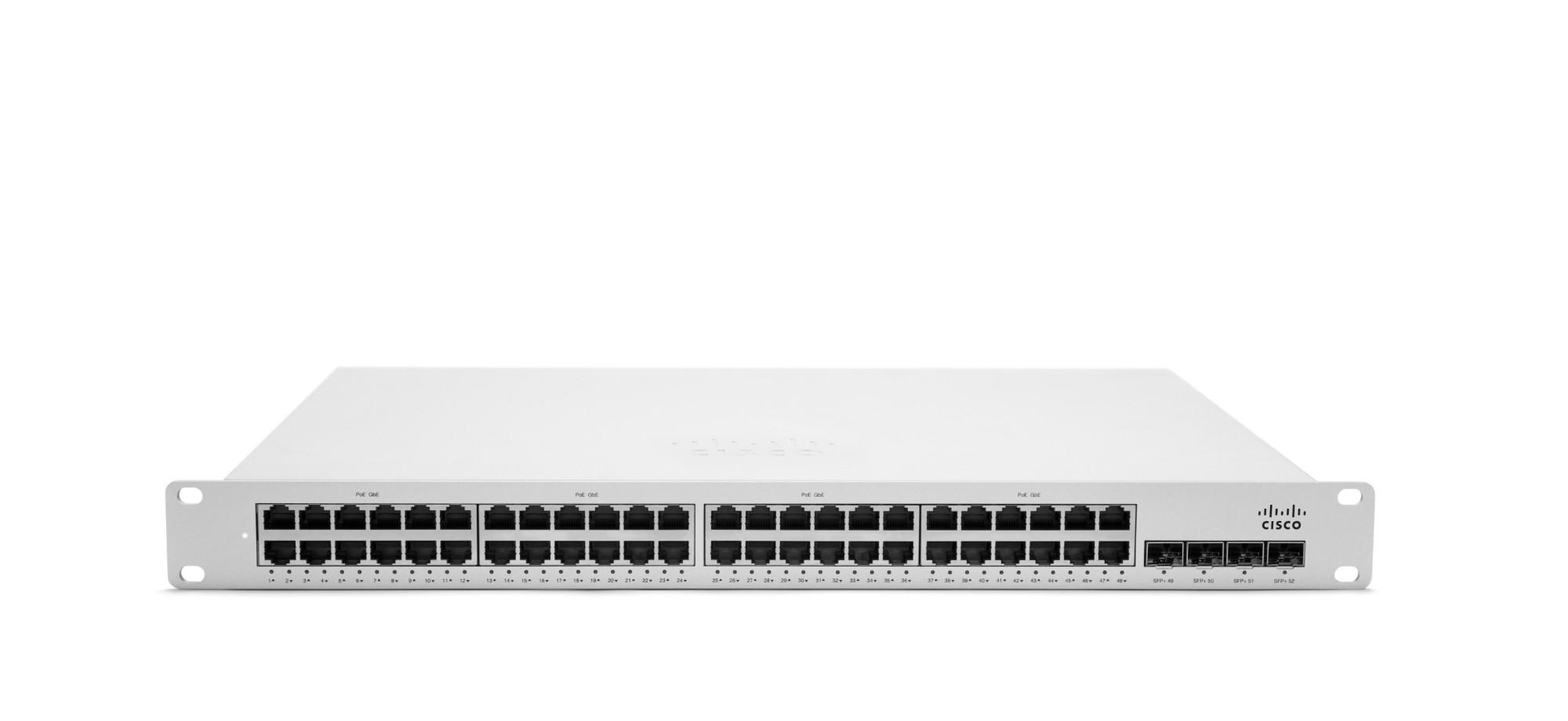 Cisco MS350-48LP Gestionado L3 Gigabit Ethernet (10/100/1000) Gris 1U Energía sobre Ethernet (PoE)