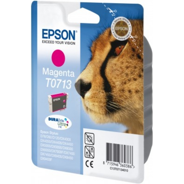 Epson C13T07134011 (T0713) Ink cartridge magenta, 250 pages, 6ml