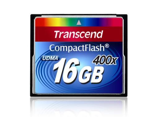 Transcend 400x CompactFlash Card, 16GB 16GB CompactFlash memory card