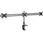 "Proper Triple Arm Desk Monitor Mount for 19''-27'' 27"" Clamp/Bolt-through Black,Silver"