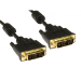 Cables Direct 77DVSING-2M DVI cable 1.8 m DVI-D Black