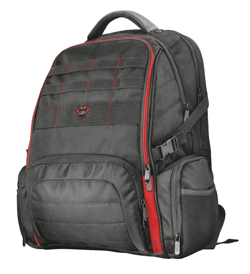 "Trust GXT 1250 Hunter maletines para portátil 43,9 cm (17.3"") Mochila Negro, Rojo"
