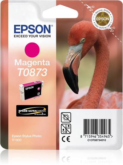 Epson Flamingo Cartucho T0873 magenta (etiqueta RF)
