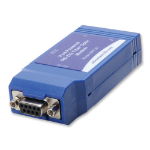 IMC Networks 9PFLST serial converter/repeater/isolator RS-232 Fiber (ST) Blue