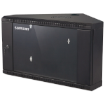 "Intellinet 19"" Corner Wallmount Cabinet, 9U, 430mm Depth, Max 60kg, Assembled, Black"