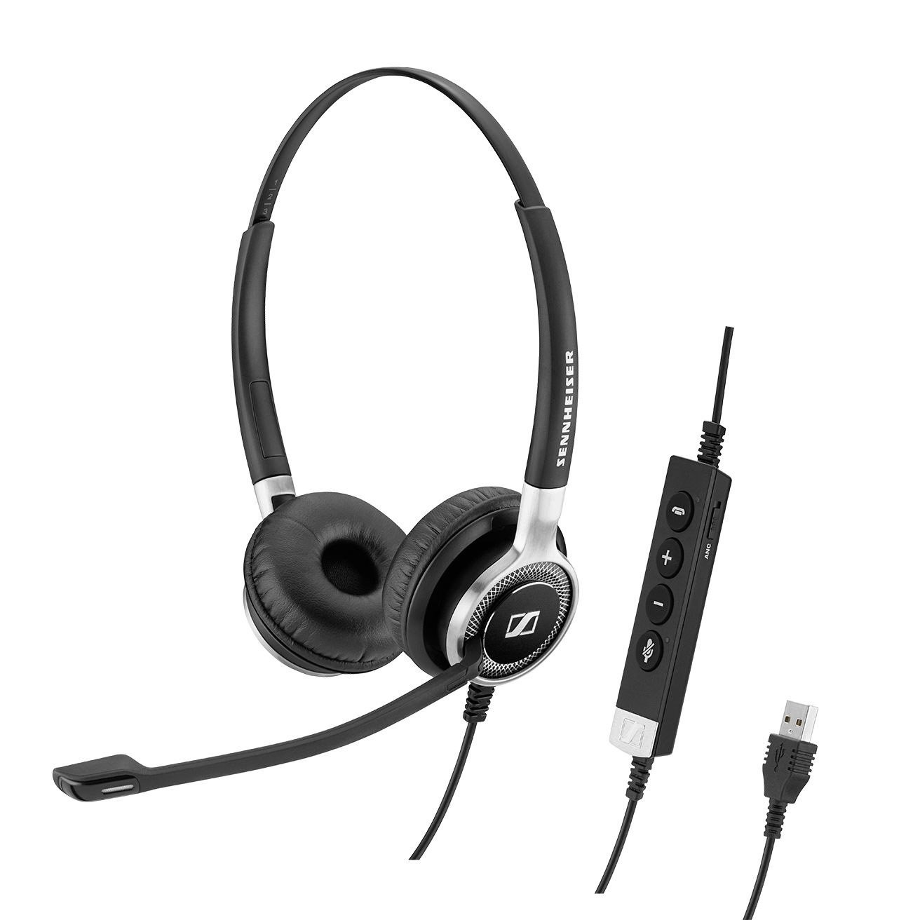 Sennheiser Century SC 660 ANC USB - Headset - on-ear - wired - active noise cancelling - USB - black