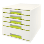 Leitz Wow Cube desk drawer organizer Rubber Green, White