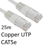 TARGET RJ45 (M) to RJ45 (M) CAT5e 25m White OEM Moulded Boot Copper UTP Network Cable