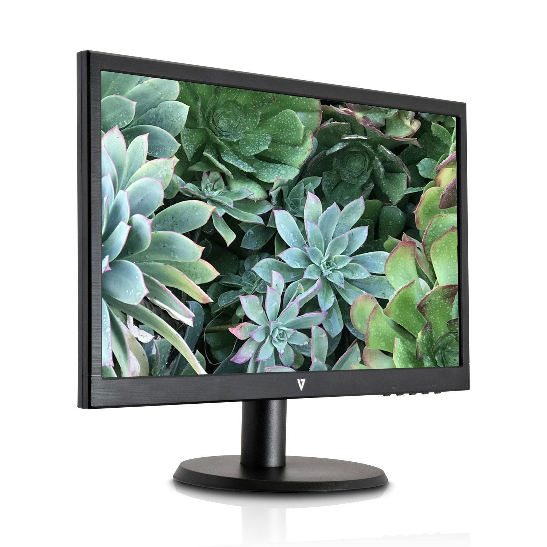 """V7 L215DS-2K 21.5"""" FHD 1920 x 1080 TN LED Monitor, VGA, DVI, SPEAKER"""