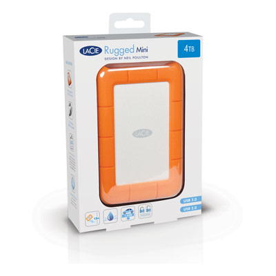 Seagate Rugged Mini external hard drive 2000 GB Orange,Silver