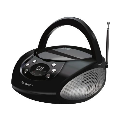 Goodmans GPS06BLK portable stereo system Analog 6 W Black