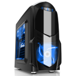 GameMax Nero mATX Case Black with Blue Leds