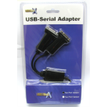 Cables Direct USB2-SERIALDUAL cable interface/gender adapter USB 2x RS-232 Black