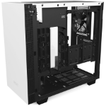 NZXT H400 Mini-Tower Black, White computer case
