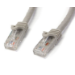 StarTech.com Cable de 5m Gris de Red Gigabit Cat6 Ethernet RJ45 sin Enganche - Snagless