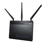 ASUS DSL-AC68U wireless router Dual-band (2.4 GHz / 5 GHz) Gigabit Ethernet 3G Black