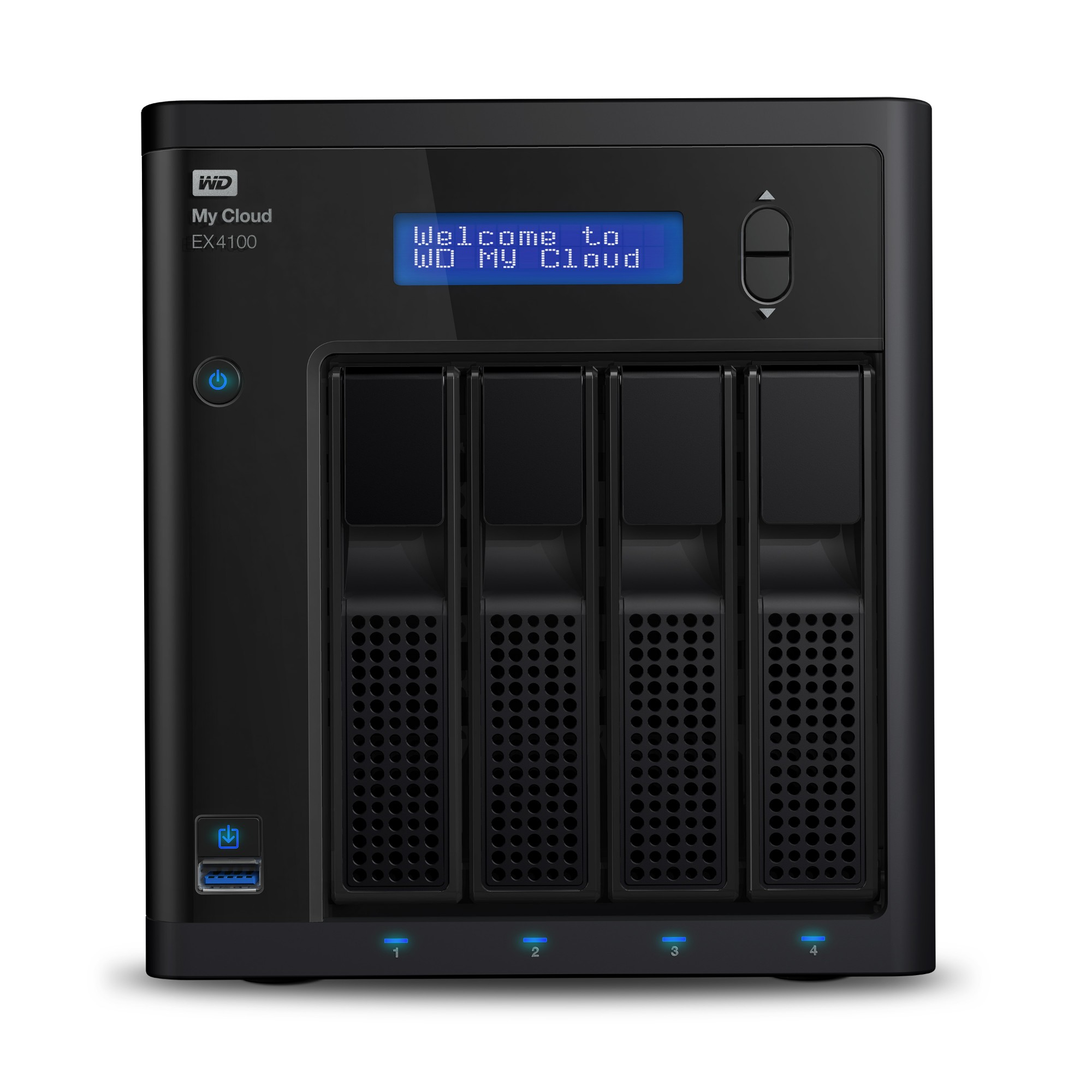 Western Digital My Cloud EX4100 Ethernet Escritorio Negro NAS