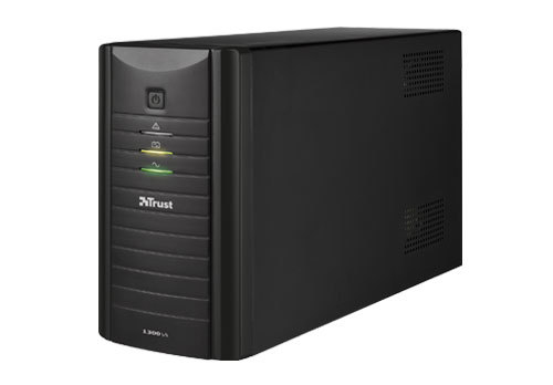 Trust Oxxtron 1300VA 1300VA 4AC outlet(s) Tower Black uninterruptible power supply (UPS)