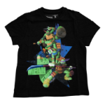TEENAGE MUTANT NINJA TURTLES (TMNT) Kid's Lean, Mean, Green T-Shirt, 104/110, Black (TSY06934TNT104)