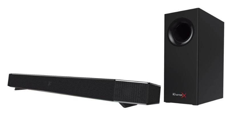 Creative Labs Sound BlasterX Katana soundbar speaker 2.1 channels 75 W Black