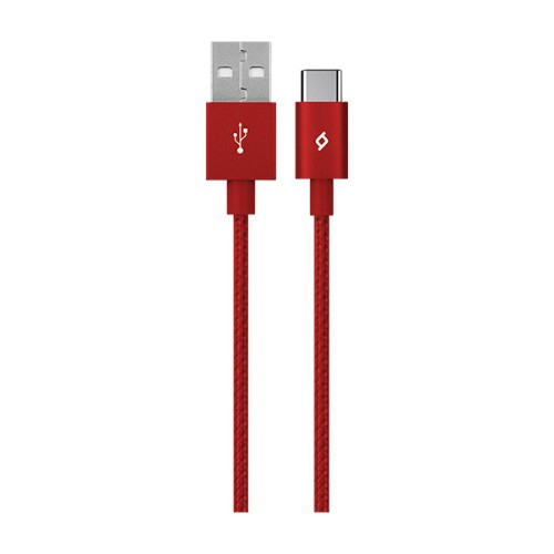 Ttec AlumiCable USB cable 1.2 m USB C USB A Red