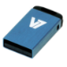 V7 Nano USB 2.0 8GB USB flash drive USB Type-A Blauw