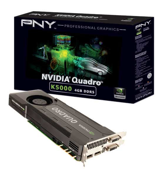 PNY VCQK5000-PB Quadro K5000 4GB GDDR5 graphics card