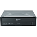 LG BH16NS55.AHLR10B optical disc drive Internal Black Blu-Ray DVD Combo