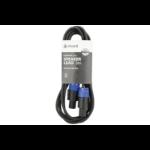 Qtx 190.179UK audio cable 3 m Speakon Black