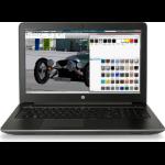 "HP ZBook 15 G4 Black Mobile workstation 39.6 cm (15.6"") 1920 x 1080 pixels 7th gen Intel® Core™ i7 16 GB DDR4-SDRAM 1256 GB HDD+SSD NVIDIA® Quadro® M2200 Wi-Fi 5 (802.11ac) Windows 10 Pro"