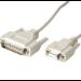 Videk 1054 serial cable White 0.3 m DB25 DB9