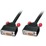 Lindy 36611 1m DVI-D DVI-D Black DVI cable