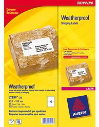 Avery Weatherproof Shipping Labels self-adhesive label White 100 pc(s)