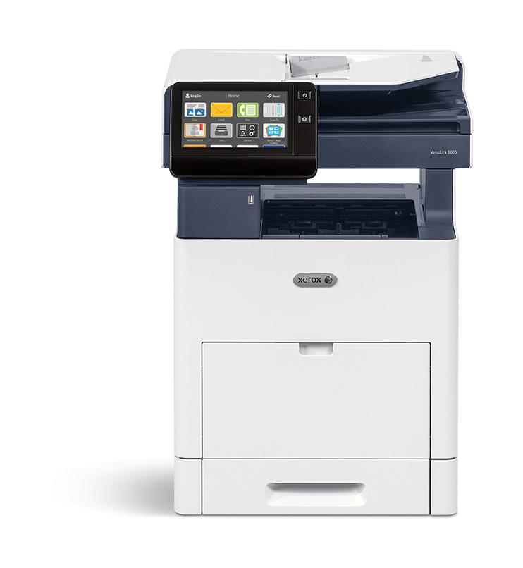 Xerox VersaLink B605 A4 56 ppm A doble cara Copia/Impresión/Escaneado/Fax Sin contrato PS3 PCL5e/6 2 bandejas 700 hojas (NO ADMITE ACABADORA)
