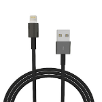 "4XEM 4XLIGHTNINGBK mobile phone cable USB A Lightning Black 35.8"" (0.91 m)"