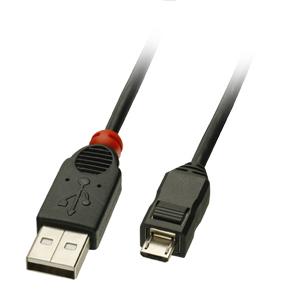Lindy 2m USB A/micro-B Cable 2m USB A Micro-USB B Male Male Black USB cable