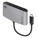 ALOGIC ThunderBolt 3 Dual HDMI PORTABLE Docking Station with 4K - Space Grey- 2 x USB-A (1X USB 3.1 1x USB 2.0) 1 x Gigabit Ethernet 2 x HDMI 4K @60Hz