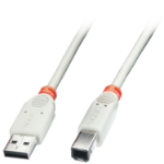 Lindy 41923 USB cable 2 m 2.0 USB A USB B White